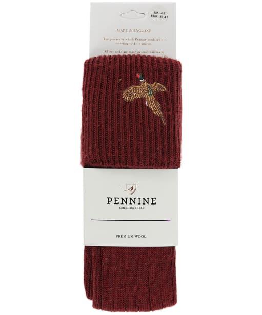 Men's Pennine Stalker Shooting Socks - Burgundy