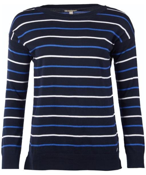 Women's Barbour Marloes Knitted Sweater - Navy / Nautical Blue / Off White