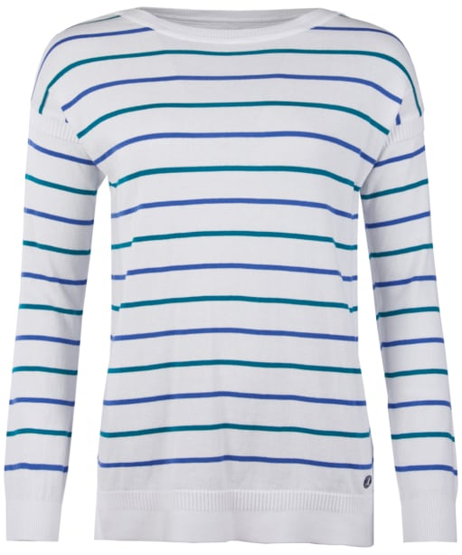 Women's Barbour Marloes Knitted Sweater - Off White / Blue / Sea Glass