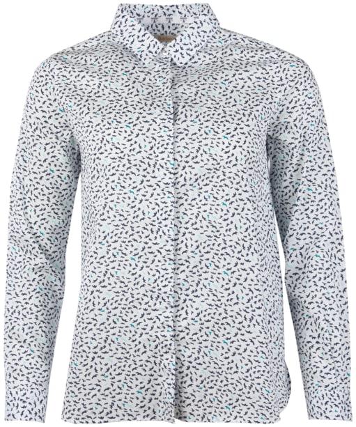 Women's Barbour Hustanton Printed Shirt - Off White Print