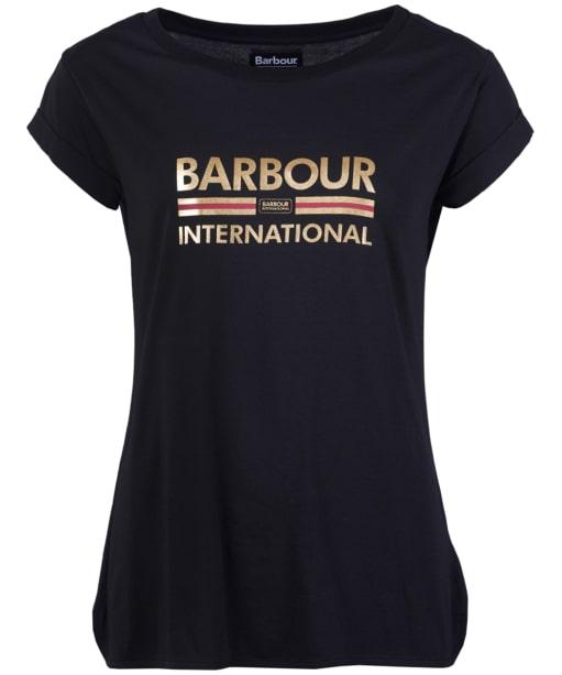 Women's Barbour International San Carlos Tee - Black