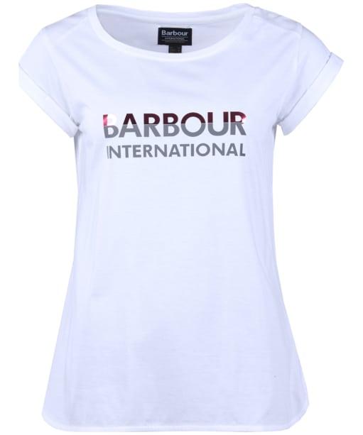 Women's Barbour International Bremgarten Tee - White