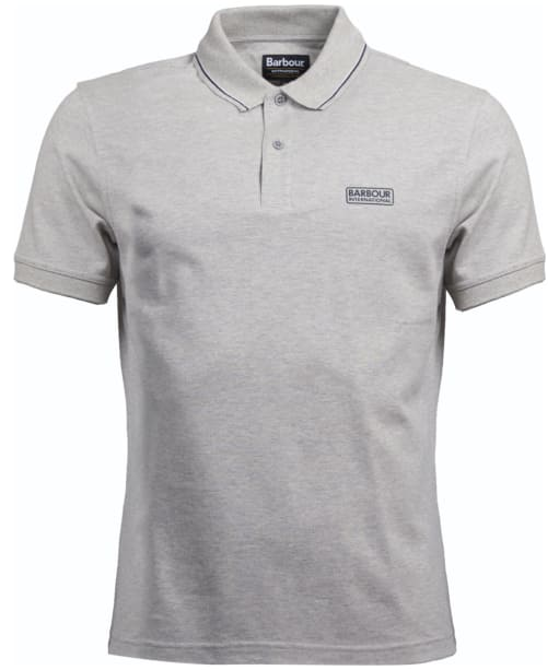 Men's Barbour International Road Polo Shirt - Grey Marl