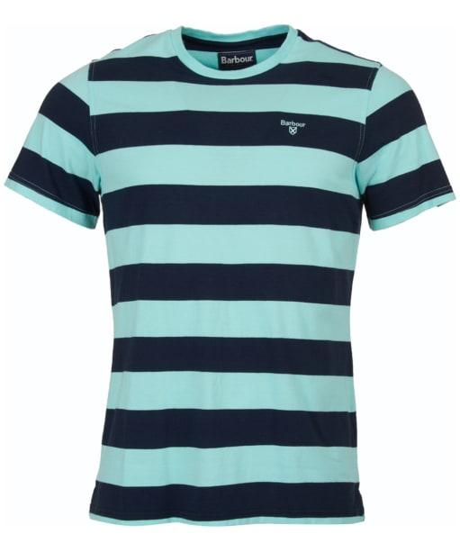 Men's Barbour Bass Stripe Tee - Aquamarine