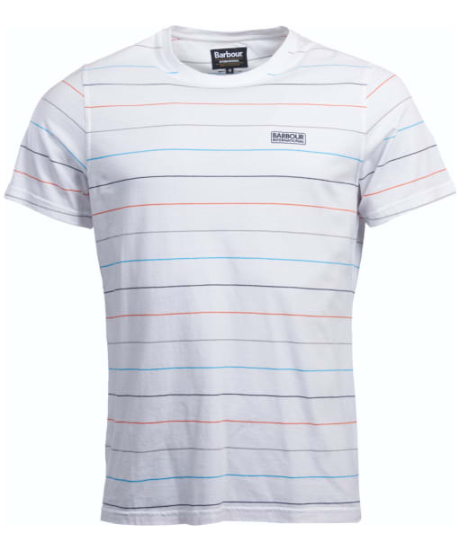 Men's Barbour International Disc Stripe T-Shirt - White