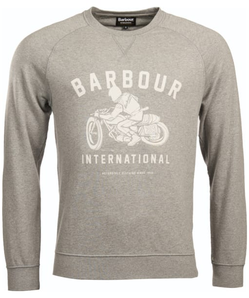 Men's Barbour International Burn Crew Neck Sweater - Grey Marl