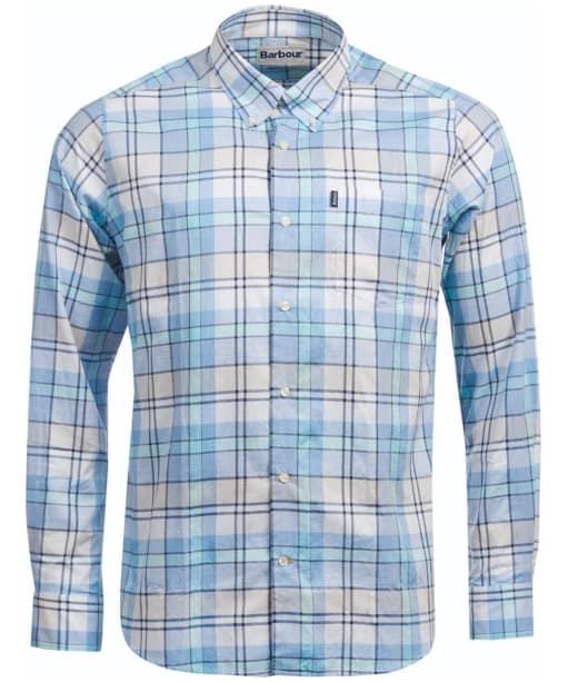 Men's Barbour Tailored Fit Bream Shirt - Aqua Check