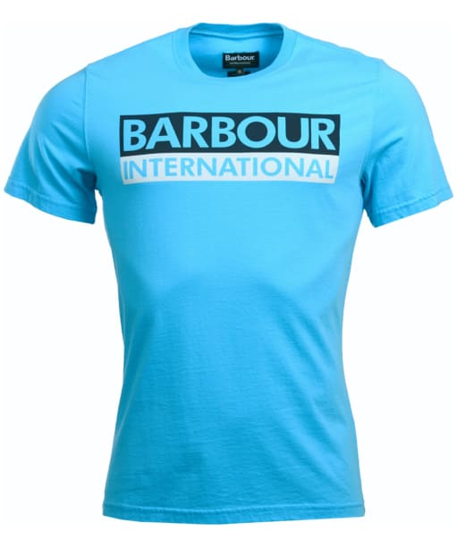 Men's Barbour International Cap Crew Neck T-Shirt - Apex Blue