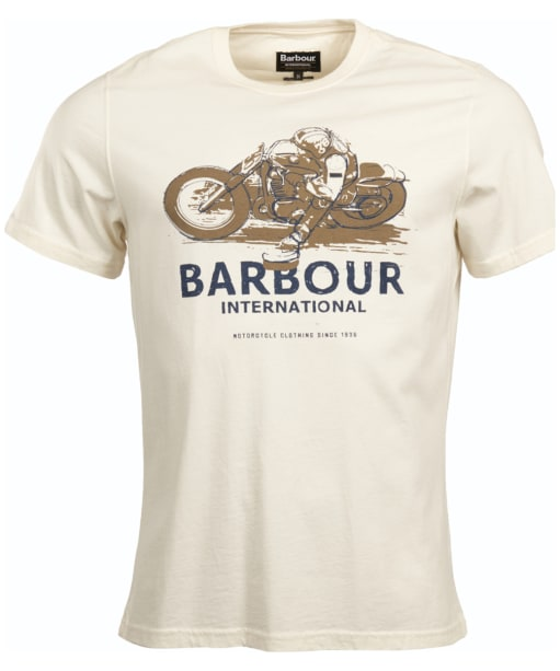 Men's Barbour International Turn Tee - Ecru