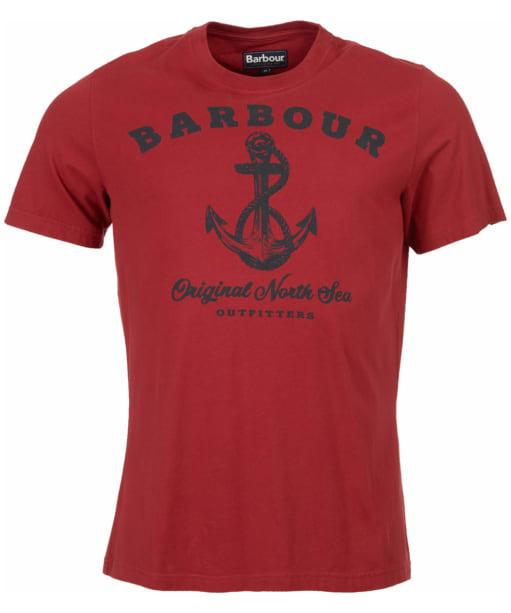 Men's Barbour Anchor Tee - Biking Red