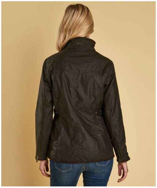 Women's Barbour Utility Waxed Jacket - Olive