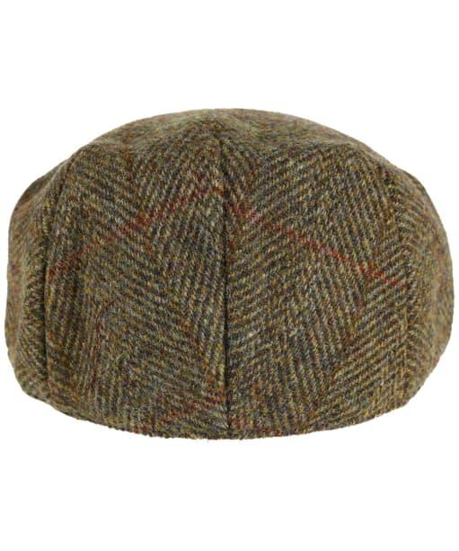 Heather Highland Harris Tweed Flat Cap - Olive / Gold