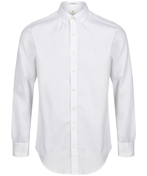 Men's GANT Regular Pinpoint Oxford Shirt - White