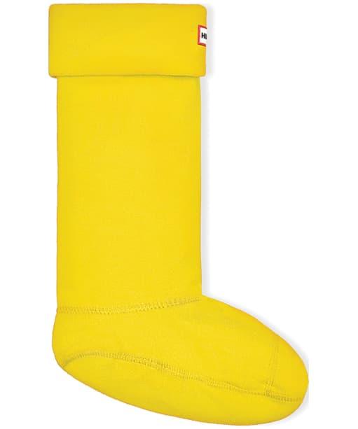 Hunter Fleece Welly Socks Adult - New Yellow