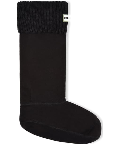 Hunter Ribbed Cuff Boot Socks - Black