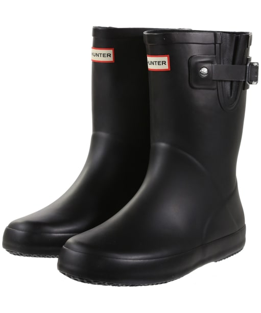 Hunter Original Kids Flat Sole Wellington Boots - Black