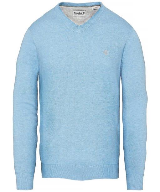 Men's Timberland Williams River V-Neck Sweater - Silver Lake Blue