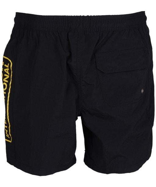 Men's Barbour International Large Logo Swim Shorts - Black