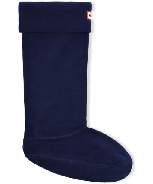 Hunter Fleece Welly Socks Adult - Navy
