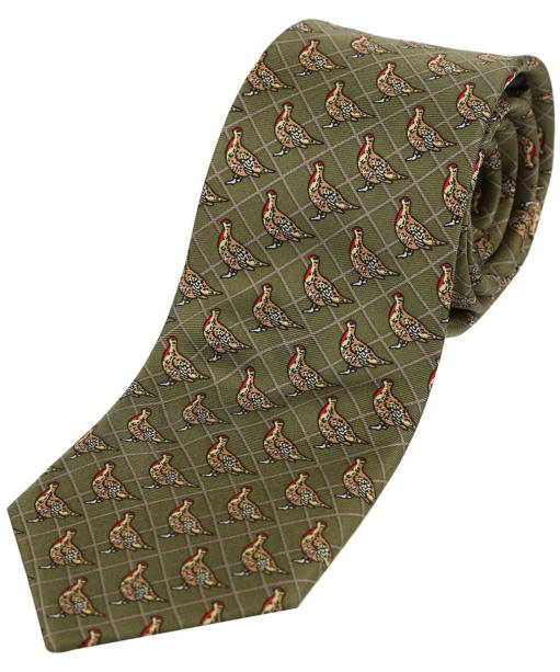 Men's Soprano Partridge Tie - Country Green