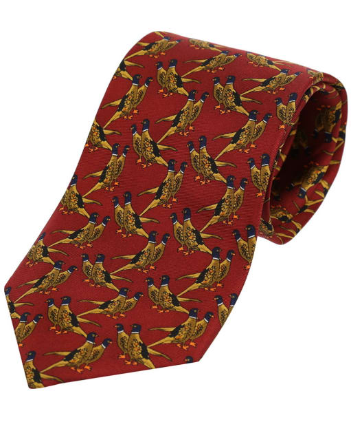 Men's Soprano Country Birds Tie - Rust