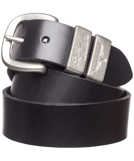 Men's R.M. Williams Solid Hide Belt - Black
