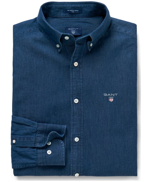 Men's GANT Indigo Slim Shirt - Dark Indigo