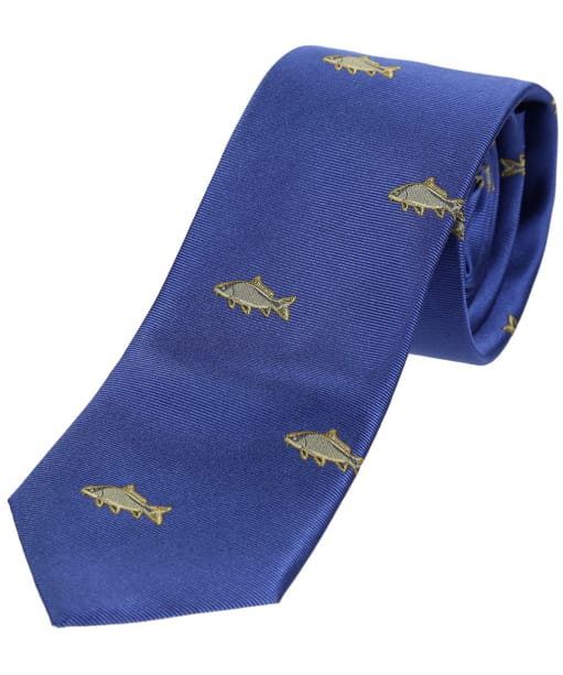 Men's Soprano Carp Country Silk Tie - Blue