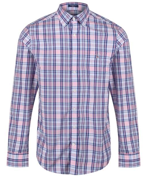 Men's GANT Broadcloth Plaid Shirt - White