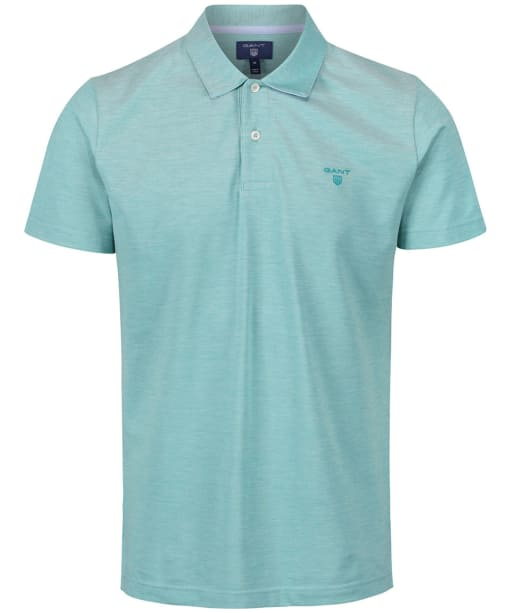 Men's GANT Oxford Pique Polo Shirt - Porcelain Green