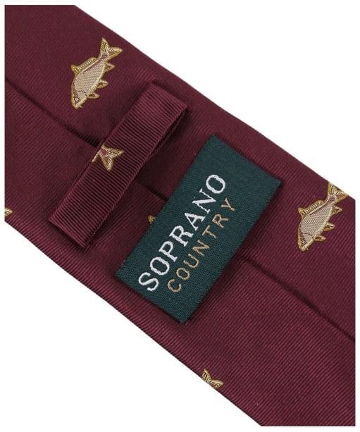 Men's Soprano Carp Country Silk Tie - Wine