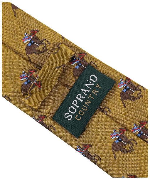 Men's Soprano Horse Racing Woven Silk Tie - Gold
