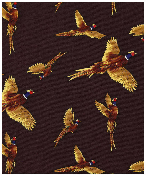 Men's Soprano Flying Pheasant Silk Pocket Square - Wine