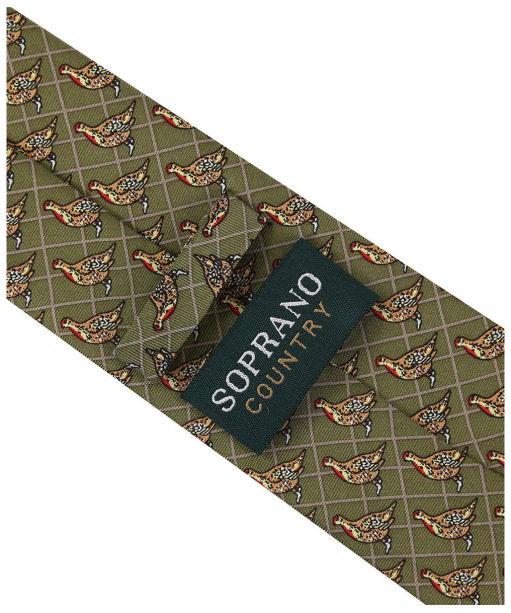 Men's Soprano Partridge Tie - Country Green