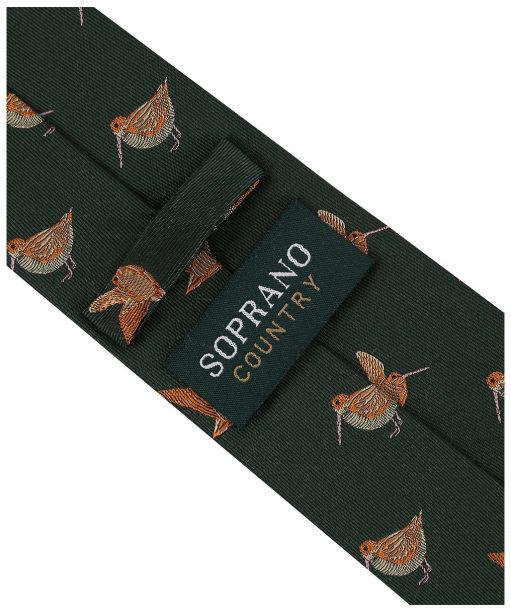 Men's Soprano Woodcocks Country Silk Tie - Country Green