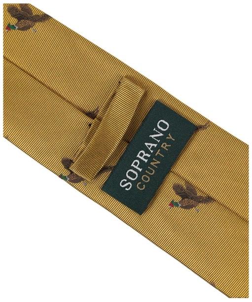 Men's Soprano Small Pheasants Tie - Gold