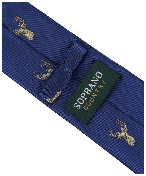 Men's Soprano Stags Head Tie - Blue