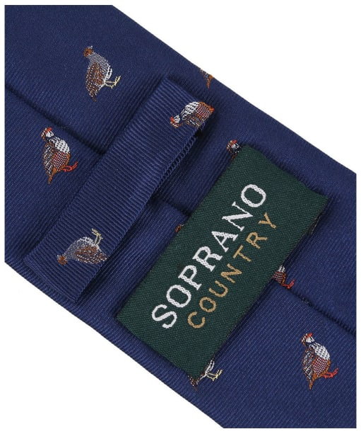 Men's Soprano Grouse and Partridge Tie - Blue