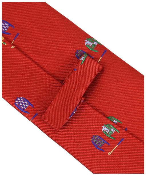 Men's Soprano Jockey Country Silk Tie - Red