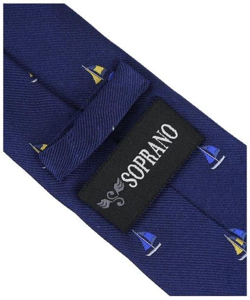 Men's Soprano Sailing Boats Silk Tie - Navy