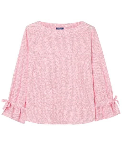 Women's GANT Confetti Bow Blouse - Geranium Pink