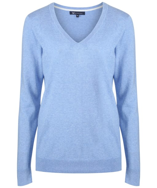 Women's Crew Clothing Foxy V-Neck Sweater - Bluebell Marl