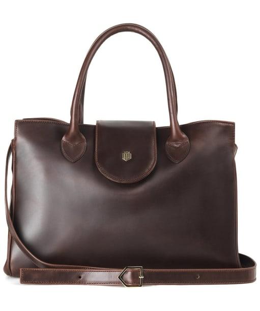Women's Fairfax & Favor Langley Handbag - Mahogany Leather