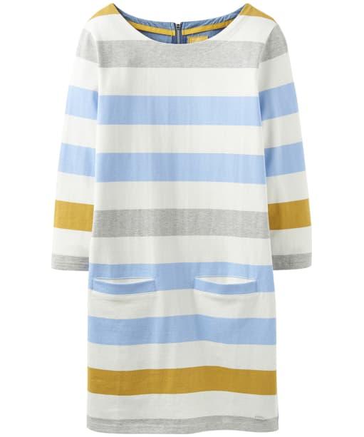 Women's Joules Jade Jersey Mix Tunic - Blue Gold Bold Stripe