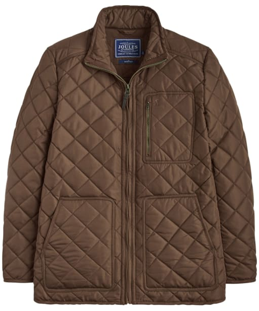 Men's Joules Derwent Quilted Jacket - Country Brown
