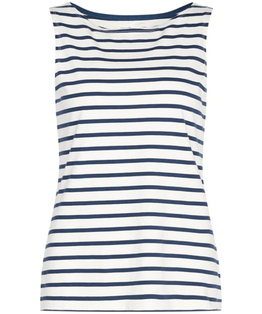 Women's Seasalt Sailor Vest Top - Breton Ecru Night