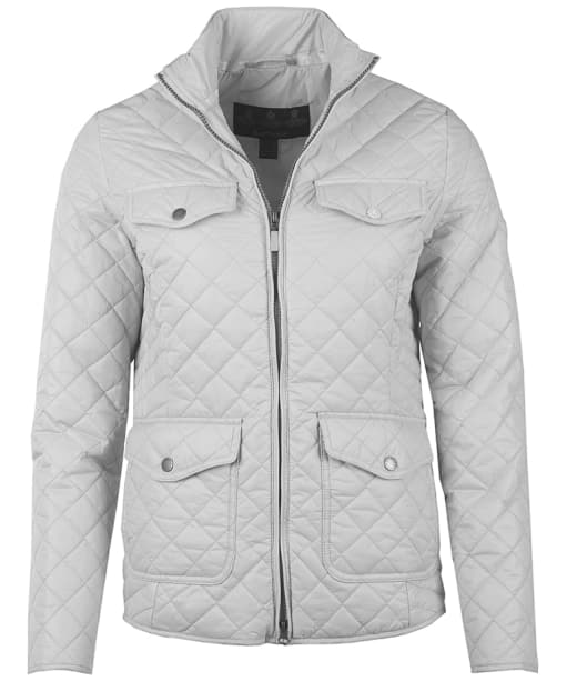 Women's Barbour Formby Quilted Jacket - Ice White