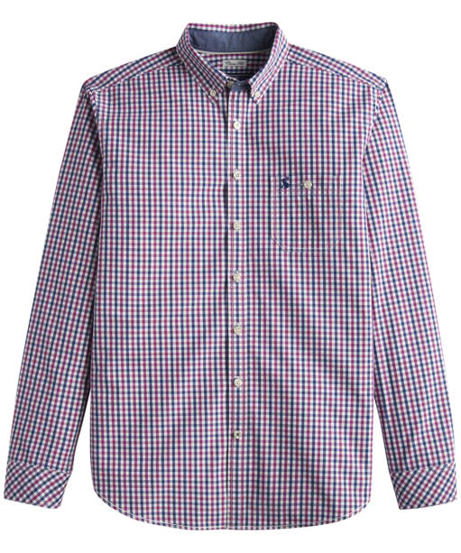 Men's Joules Hewney Check Shirt - Rock Rose Gingham
