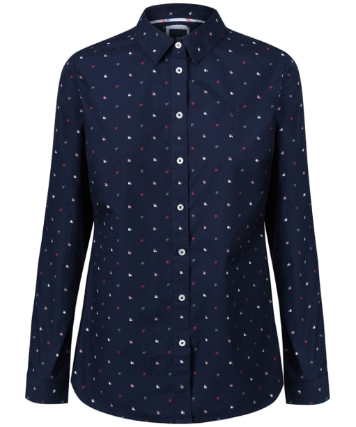 Women's Crew Clothing Eastney Shirt - Bud / Geo / Navy