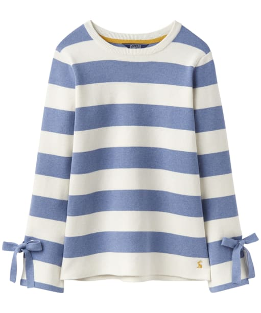 Women's Joules Myanna Tie Sleeve Jumper - Light Blue Stripe